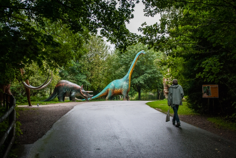 Changing weather in Borås zoo on Saturday. Don´t worry the dinosaurs are not alive.